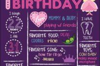 Allison's Birthday board